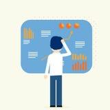 Affärsanalytiker, analys för finansiella data Royaltyfri Fotografi