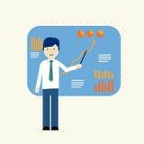 Affärsanalytiker, analys för finansiella data Royaltyfria Foton