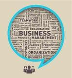 Affärsanförandebubbla, ordmolnvektor Arkivbild
