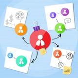 Affärsanslutning Person Icon Team Creative vektor illustrationer