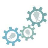 Affärsanställda eller gruppmedlemmar som går i kugghjul Royaltyfri Fotografi