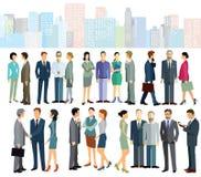 Affärsarbetare i stad vektor illustrationer