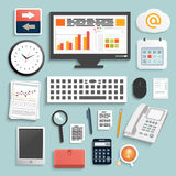 Affärsarbetsbeståndsdelar Arkivfoto