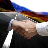 affärsavtalet fast Arkivfoton
