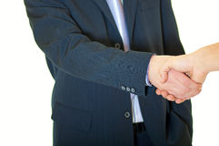 affärsavtalet hands nytt over folk upprörande två Fotografering för Bildbyråer