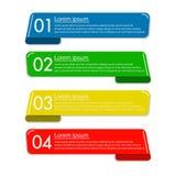 Affärsbaner för rengöringsdukdesign som är idérikt för website Arkivfoton