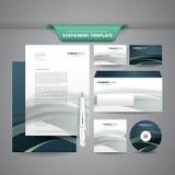 Affärsbrevpappermall vektor illustrationer