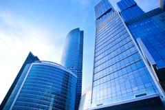 affärscentrumstadsmoscow nya skyskrapor Royaltyfri Bild