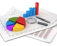 Affärsdiagram och finansbegrepp Arkivbilder