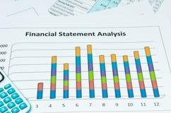 Affärsdiagram och graf Arkivbild