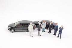 Affärsdiagram och leksakbil Fotografering för Bildbyråer