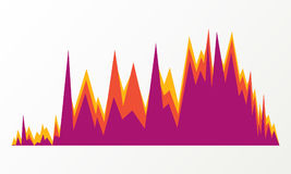 Affärsdiagrambeståndsdel, färgrik infographics som isoleras på den vita bakgrundsillustrationen Statistikinfochart, datavisuellt  Fotografering för Bildbyråer