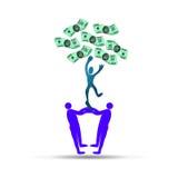 Affärsdollarträd stock illustrationer