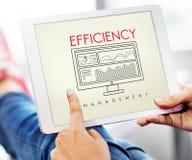 Affärseffektivitet utvärderar begrepp för strategiledning royaltyfria foton