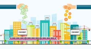 Affärsegenskapsinvestering Fastighetsinvestering Arkivfoton