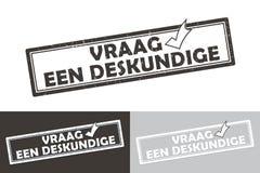 Affärsetikett/stämpel för experter tryckbar holländsk Royaltyfria Foton