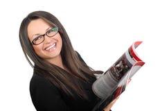 affärsexponeringsglaskvinnor Royaltyfri Foto
