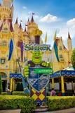 Affärsföretag för Shrek slott 4D Arkivfoto