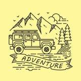 Affärsföretag Jeep Illustration Design Vector Royaltyfri Illustrationer