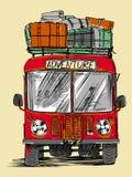 Affärsföretagbuss Royaltyfri Illustrationer