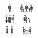 Affärsförhandlingar stock illustrationer