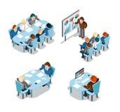 Affärsförhandlingar och idékläckning, analys vektor illustrationer