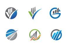 Affärsfinanslogo Arkivfoto