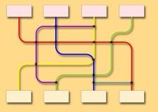Affärsflödesdiagram vektor illustrationer