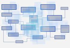 Affärsflödesdiagram på vit bakgrund Arkivbild