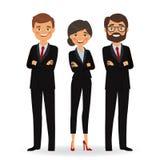 Affärsfolk i affärsdräkter vektor illustrationer