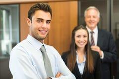 Affärsfolk i deras kontor Royaltyfri Fotografi