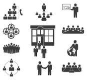 Affärsfolk. Kontorssymboler, konferens vektor illustrationer