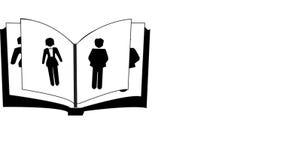 Affärsfolk och bok vektor illustrationer