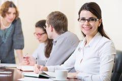 Affärsfolk på seminariet arkivfoton