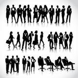 Affärsfolk silhouettes Royaltyfria Bilder