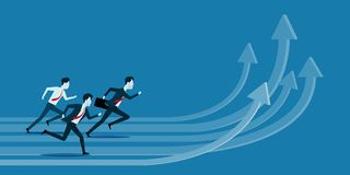 Affärsfolk som är konkurrenskraftigt på grafbegrepp vektor illustrationer
