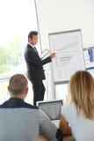 Affärsfolk som deltar i presentation royaltyfri foto