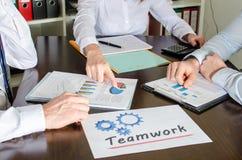 affärsfolk som fungerar tillsammans Royaltyfria Foton