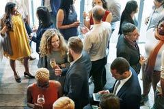 Affärsfolk som möter äta begrepp för diskussionskokkonstparti Royaltyfri Fotografi