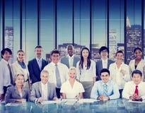 Affärsfolk som möter diskussionen företags Team Concept Arkivfoton