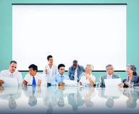 Affärsfolk som möter samarbete Team Concept Royaltyfri Bild