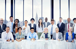 Affärsfolk som möter Team Concept Arkivbild