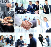 Affärsfolk som skakar händer Arkivfoton