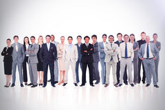 Affärsfolk stående övre 3d Arkivfoton