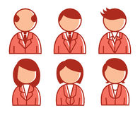Affärsfolk symbol Arkivfoto