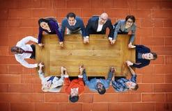 Affärsfolk Team Connection Togetherness Concept Fotografering för Bildbyråer