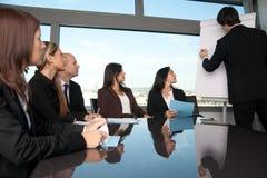 Affärsfolk under en presentation arkivbild