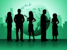 Affärsfolket betyder den professionellaffärsmän och affärskvinnan vektor illustrationer