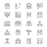 Affärsfolket gör symboler tunnare Royaltyfri Bild