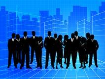 Affärsfolket visar företags Businesspeople och teamwork stock illustrationer